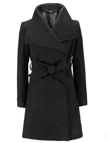 Woolen Belted Trench Coat - FIREVOGUE