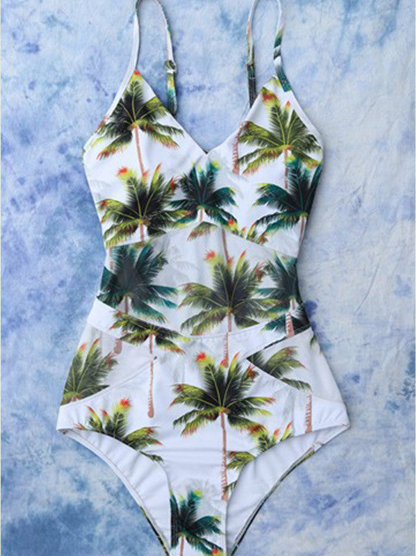 Isn't She Lovely Palm One-piece Swimsuit - FIREVOGUE