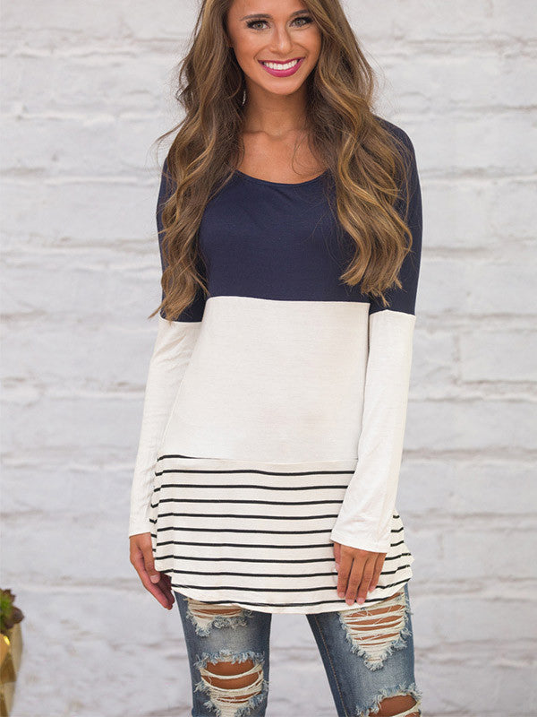 Lace Point Stripe Top - FIREVOGUE