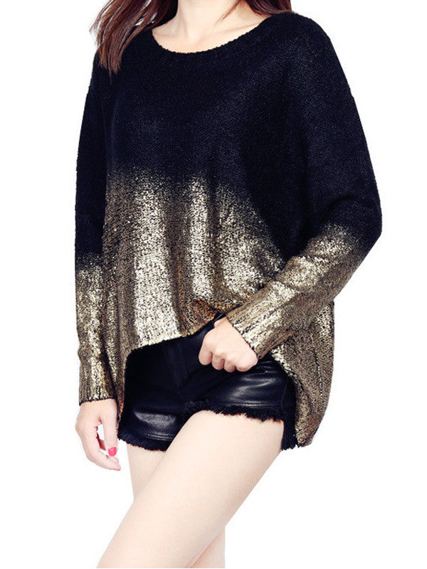 Walk the Shine Asymmetric Sweater - FIREVOGUE
