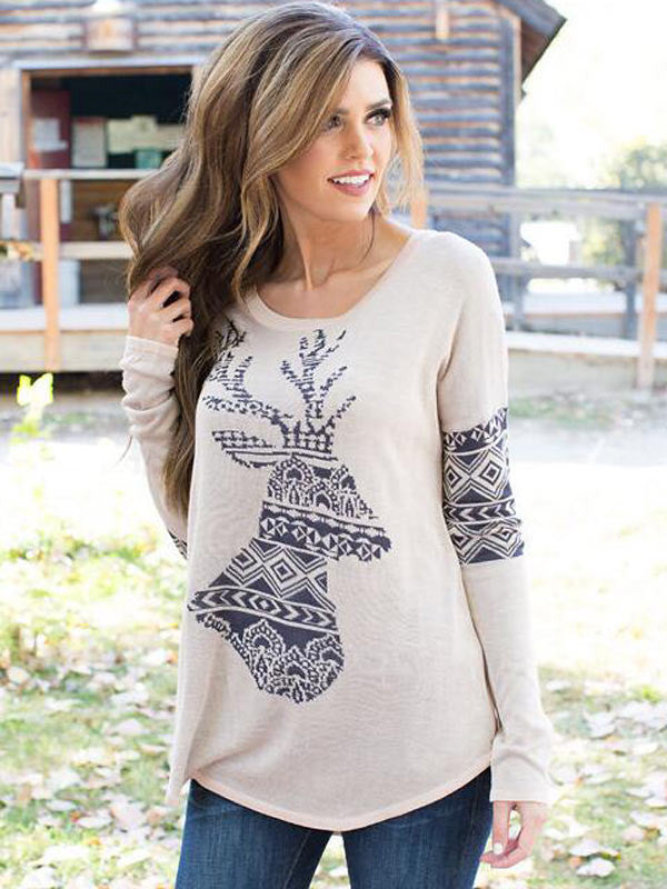Christmas Must Have Deer Print Top - FIREVOGUE