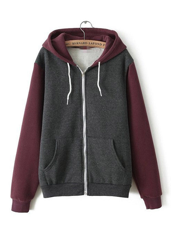 Multi-colored Zip Hooded Sweatshirt - FIREVOGUE