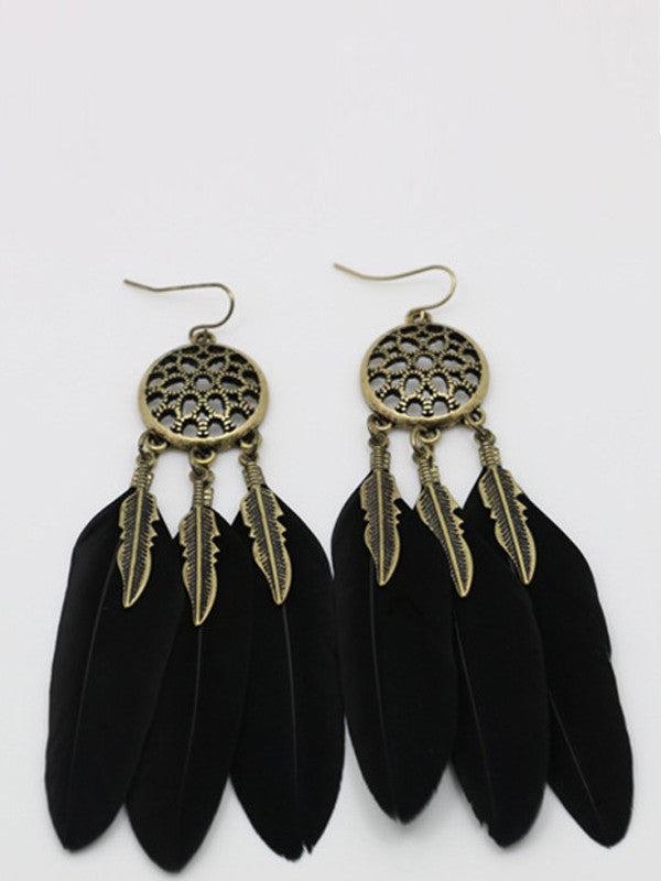 Vintage Feather Shape Earrings