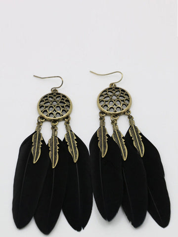 Vintage Feather Shape Earrings - FIREVOGUE