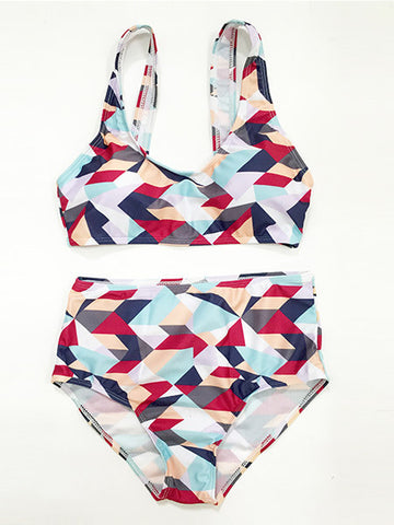 Apple of My Eye Printed Bikini Set - FIREVOGUE