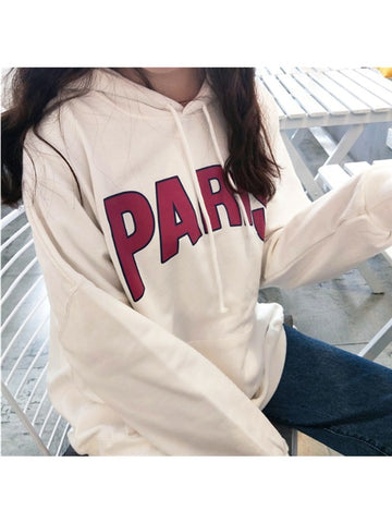 Only Love Paris Hooded Sweatshirt