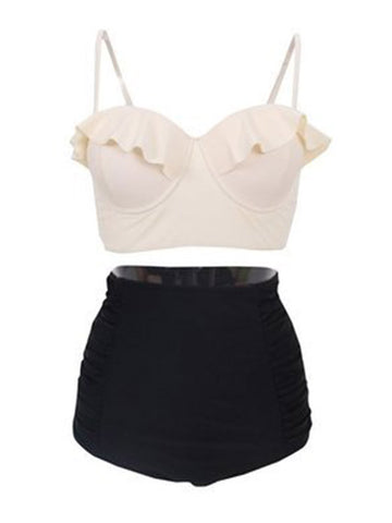 Let's Go Vintage High-waisted Bikini Sets - FIREVOGUE
