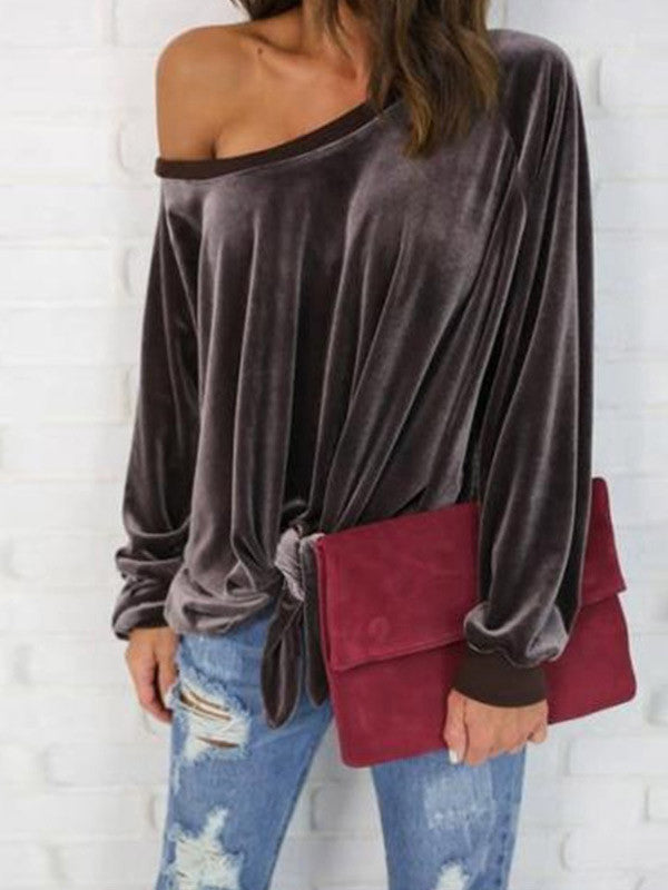 Very Merry Velvet Loose Top - FIREVOGUE