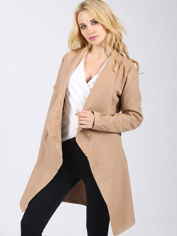 Woolen Trench Coat - FIREVOGUE