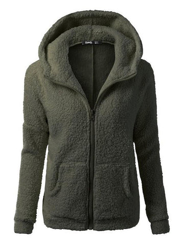 Fleece Hooded Outerwear - FIREVOGUE