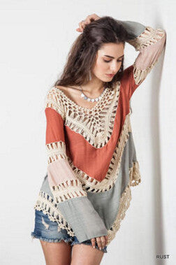 Multicolor Loose Blouse - FIREVOGUE