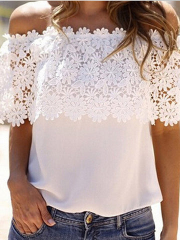 Beautiful Love White Lace Top