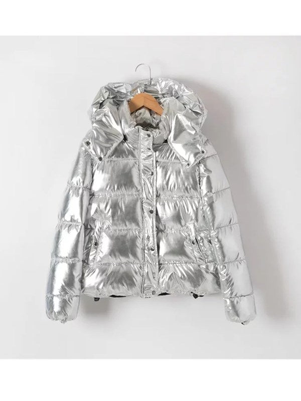 I Am Freaking Cold Silver Hooded Outerwear