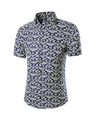 Men's Short Sleeve Printed Shirt