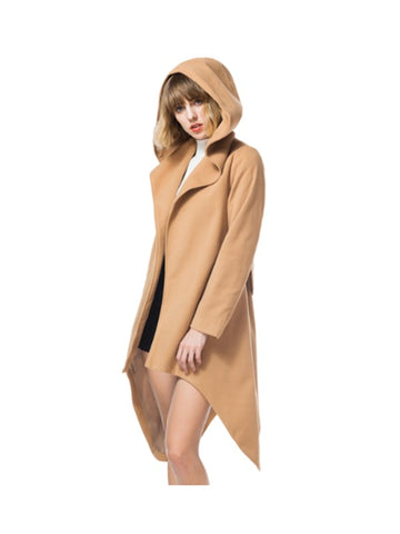 Need You Now Irregular Cut Hooded Coat