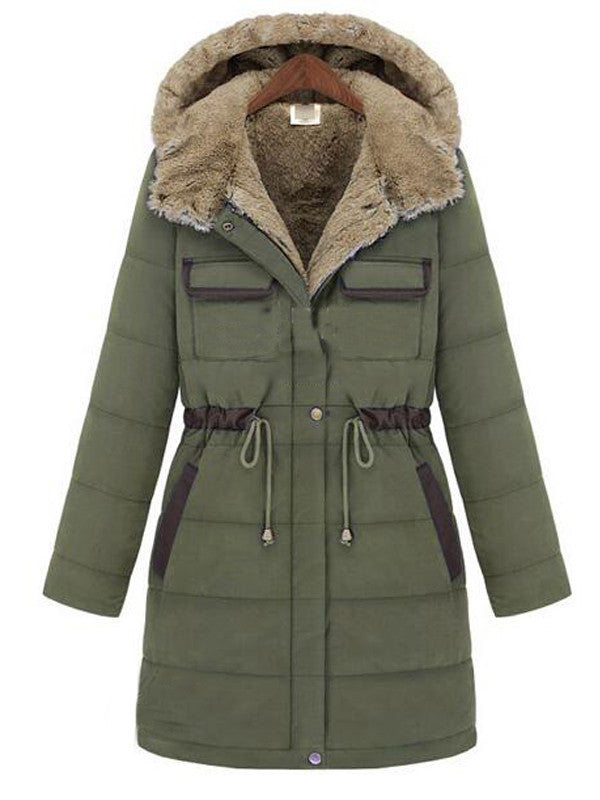 Slim Fit Warm Cotton-padded Hooded Coat - FIREVOGUE