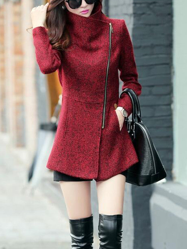 Elegant Lady Wool Coat - FIREVOGUE