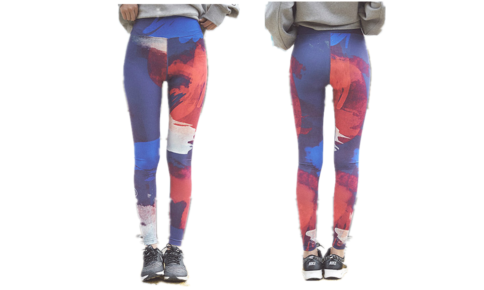 Work On Fire Full Length Yoga Printed Leggings - FIREVOGUE