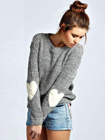 Take Heart Loose Sweater - FIREVOGUE