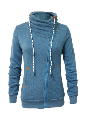 Warming Trend Collar Zip Sweatshirt - FIREVOGUE