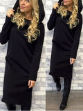 Keep It Simple Hooded Dress