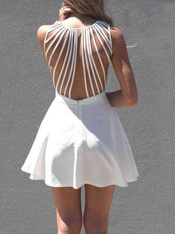 Believe it or Net Nice Back Mini Dress