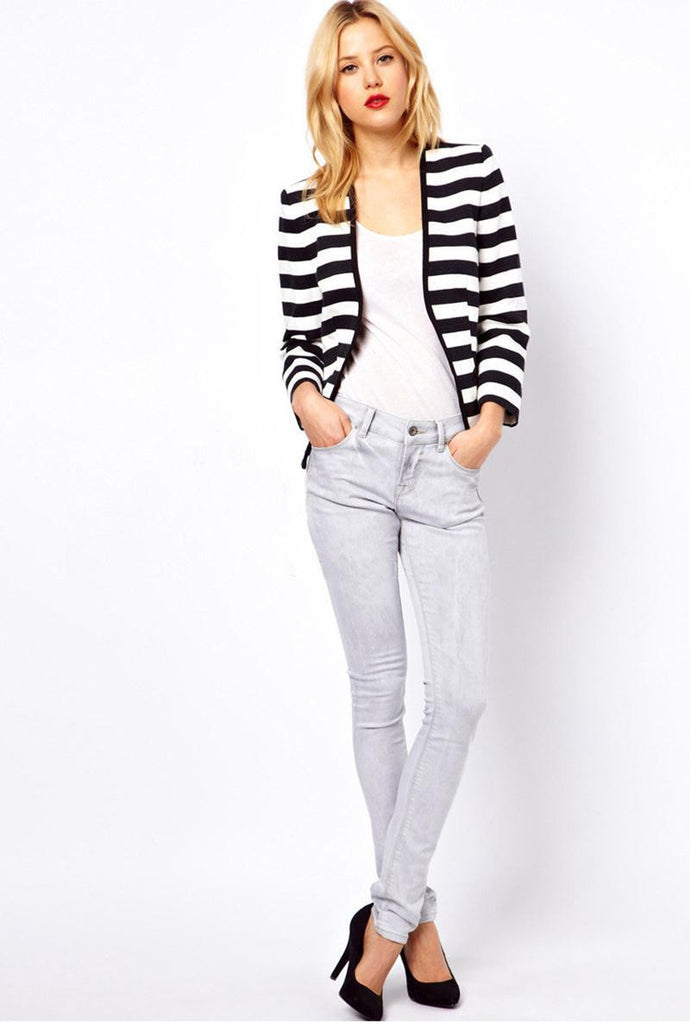 Stripe Open Front Top - FIREVOGUE