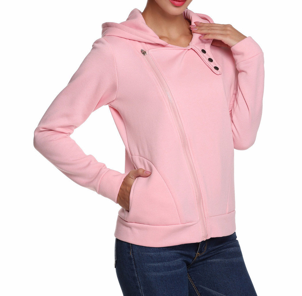 Call Me Baby Pink Side Zip Hoodie - FIREVOGUE