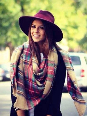 Colorful Check Scarf - FIREVOGUE