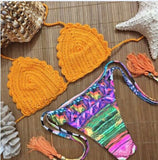 Walking On Sunshine Rainbow Color Bikini Sets