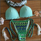 Say It Right Mint green Bikini Sets