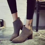 Fashion Middel-heel Ankle Boot - FIREVOGUE