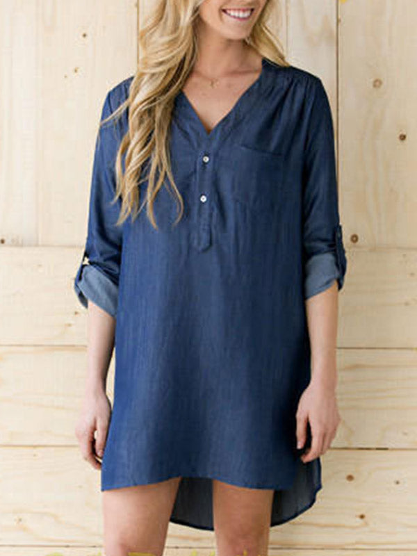 Back in Town Denim Dress