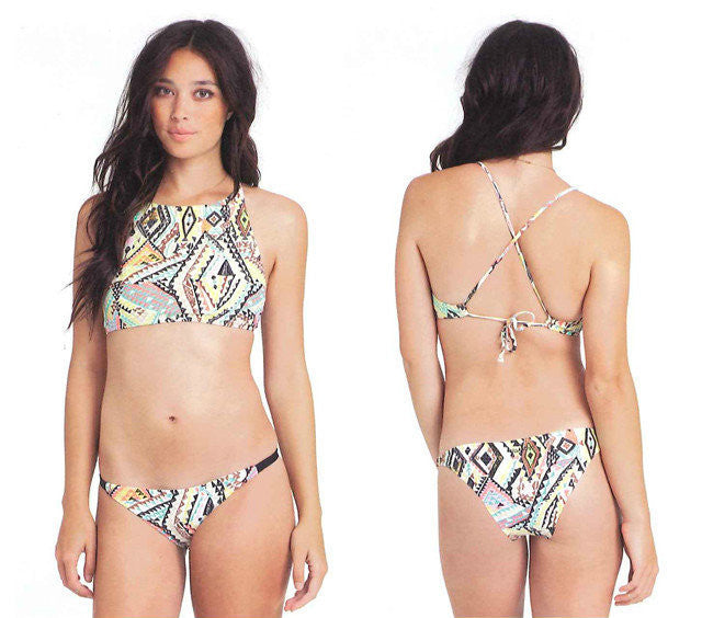 Say It Right Exotic Pattern Bikini Set - FIREVOGUE
