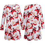 Christmas MUST HAVE Santa Print Dress - FIREVOGUE
