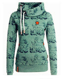 Be Your Girl Deer Print Hood Sweatshirt - FIREVOGUE