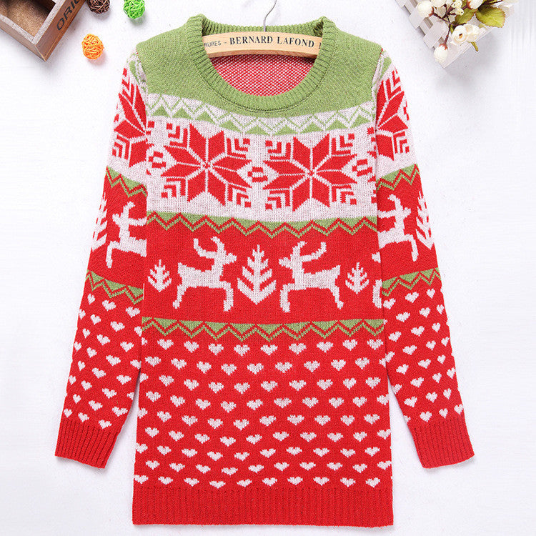 Christmas Snow & Milu Sweater - FIREVOGUE