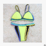 (clearance)Queen of Dreams Ice-cream Color Bikini Sets - FIREVOGUE