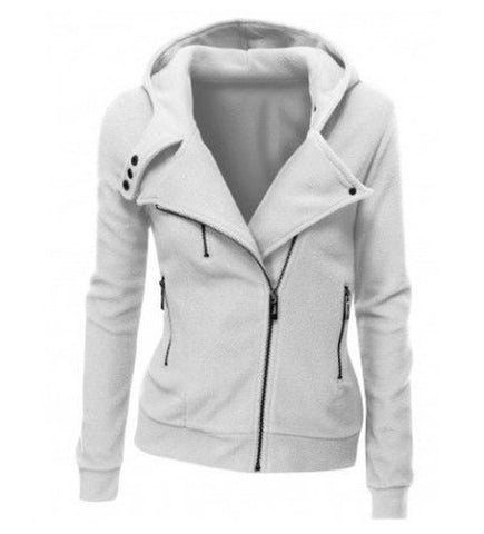 Keep It Simple Side Zip Hoodie Sweatshirt