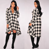 Plaid About It Shirt Dress - FIREVOGUE