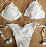 Piece of Heaven Pure White Bikini Sets - FIREVOGUE