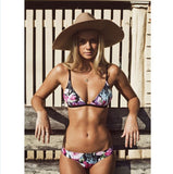 Blow Me a Kiss Floral Bikini Set - FIREVOGUE