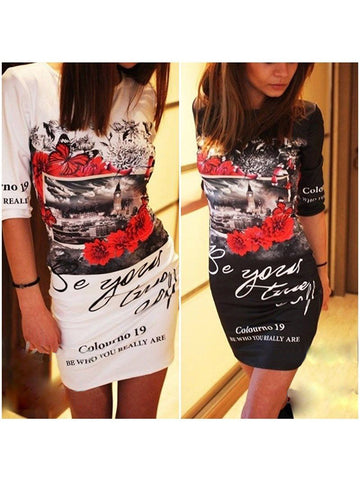 Be Yourself Printed T-shirt Dress