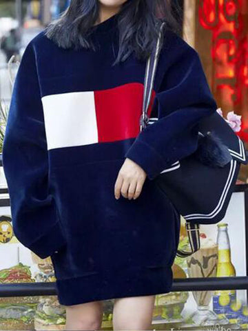 Red & White Check Oversize Hoodie - FIREVOGUE