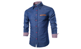 Men's Casual Denim Shirt - FIREVOGUE