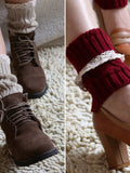 Lace Knitting Boot Cuffs