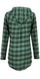 Plaid to the Bone Button-Up Hooded Outerwear - FIREVOGUE