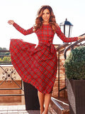You Might Think Plaid Dress - FIREVOGUE