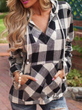 Brokedown Palace Plaid Hooded Shirt - FIREVOGUE