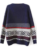 Good Time Printed Sweater - FIREVOGUE